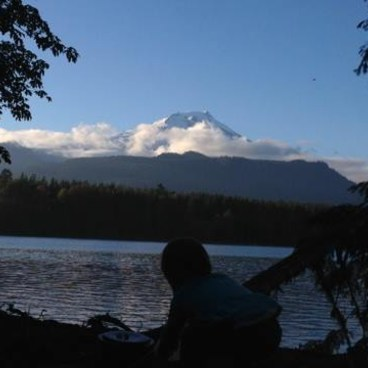 View of Mt. Baker from Maple Grove Campsite #6- South Baker Lake Trail