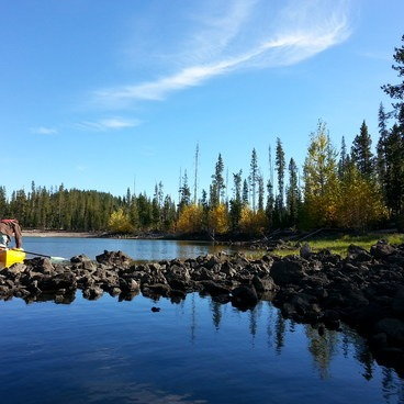 Fall kayaking on Elk Lake is not to be missed!- Elk Lake