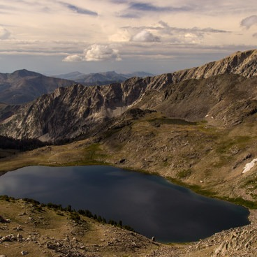 High above Betty Lake- Broad Canyon: Betty, Goat + Baptie Lakes and the Surprise Valley Divide