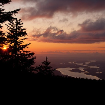 High Above the Columbia River- Larch Mountain, Sherrard Point