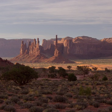 The Totem Pole - Areas beyond the totem pole are accessible by tour only- Monument Valley Navajo Tribal Park