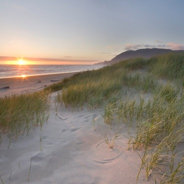 Sun sets over the dunes- Nehalem Bay State Park