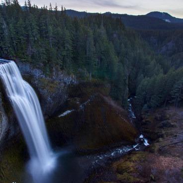 Salt Creek Falls as twilight sets in- Salt Creek Falls