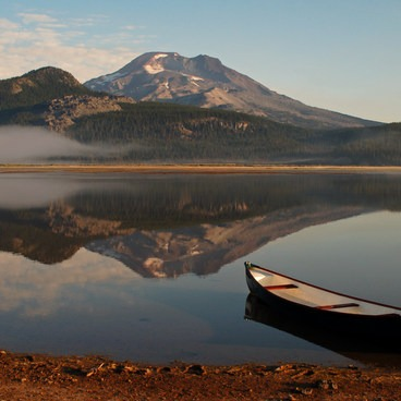 In late summer, the lake can become shallow enough that portaging may be required in some areas.- Sparks Lake