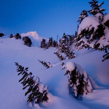 Some beautiful texture in this wind-shaped snow- Mount Hood Wilderness