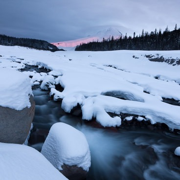 An early arrival could allow for a beautiful sunset view as well as a lack of crowds!- White River West Ski Trail