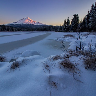 Clearing after an early season snowfall in late November- Trillium Lake