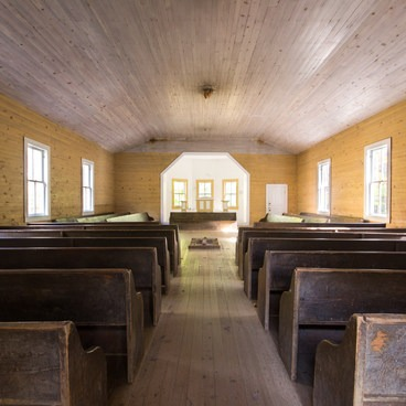 Historic Church in Cades Cove- Great Smoky Mountains National Park
