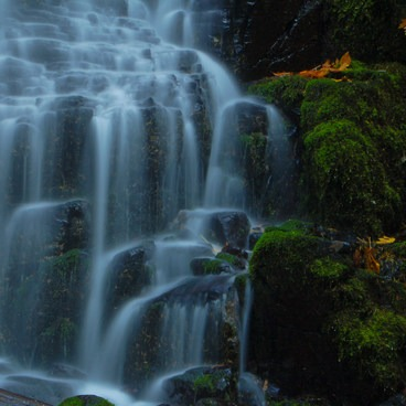Close up of Fairy Falls- Columbia River Gorge National Scenic Area