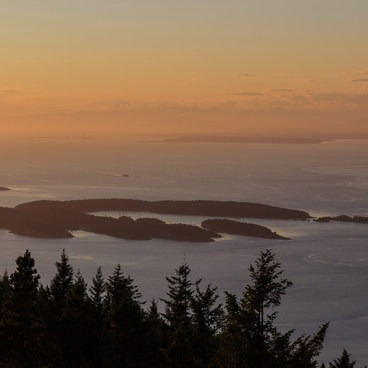 The Sucia Islands as seen from Mt Constitution- Mount Constitution