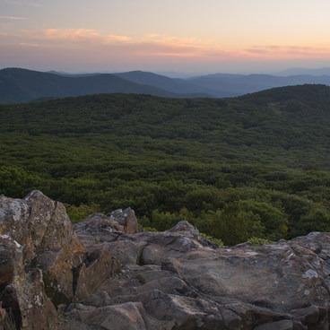 Sunset view south from Stony Man- Stony Man via Little Stony Man Trail