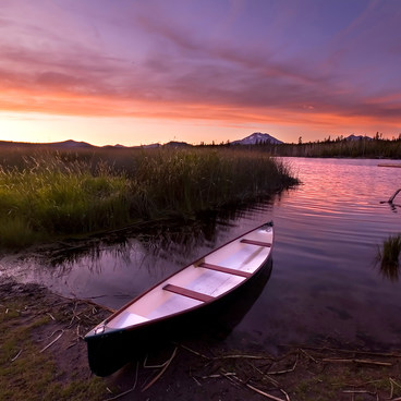 Vibrant sunset after an afternoon of paddling- Lava Lake Campground