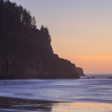 North Cape Meares at sunset- Cape Meares Big Spruce + Beach Trail
