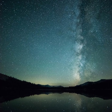 Milky Way as seen from Tenaya Lake- Tenaya Lake