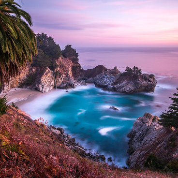 A long exposure of McWay Falls during sunset- Julia Pfeiffer Burns State Park