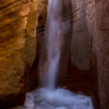 The waterfall- Willis Creek Slot Canyon