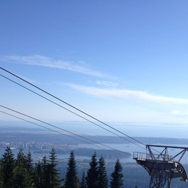 View from the top- The Grouse Grind + Goat Ridge