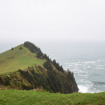 Looking west.- Cascade Head Hike