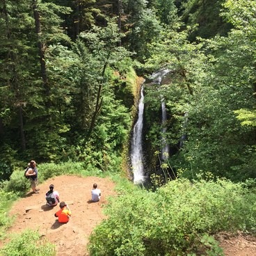 Triple Falls- Horsetail, Ponytail + Triple Falls Hike