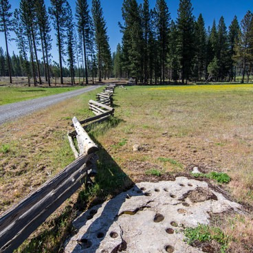 Grinding rocks @ Soda Springs.- Soda Springs Historic Site