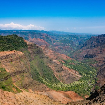 View of Waimea Canyon from the lookout!- Pu'u Hinahina Lookout
