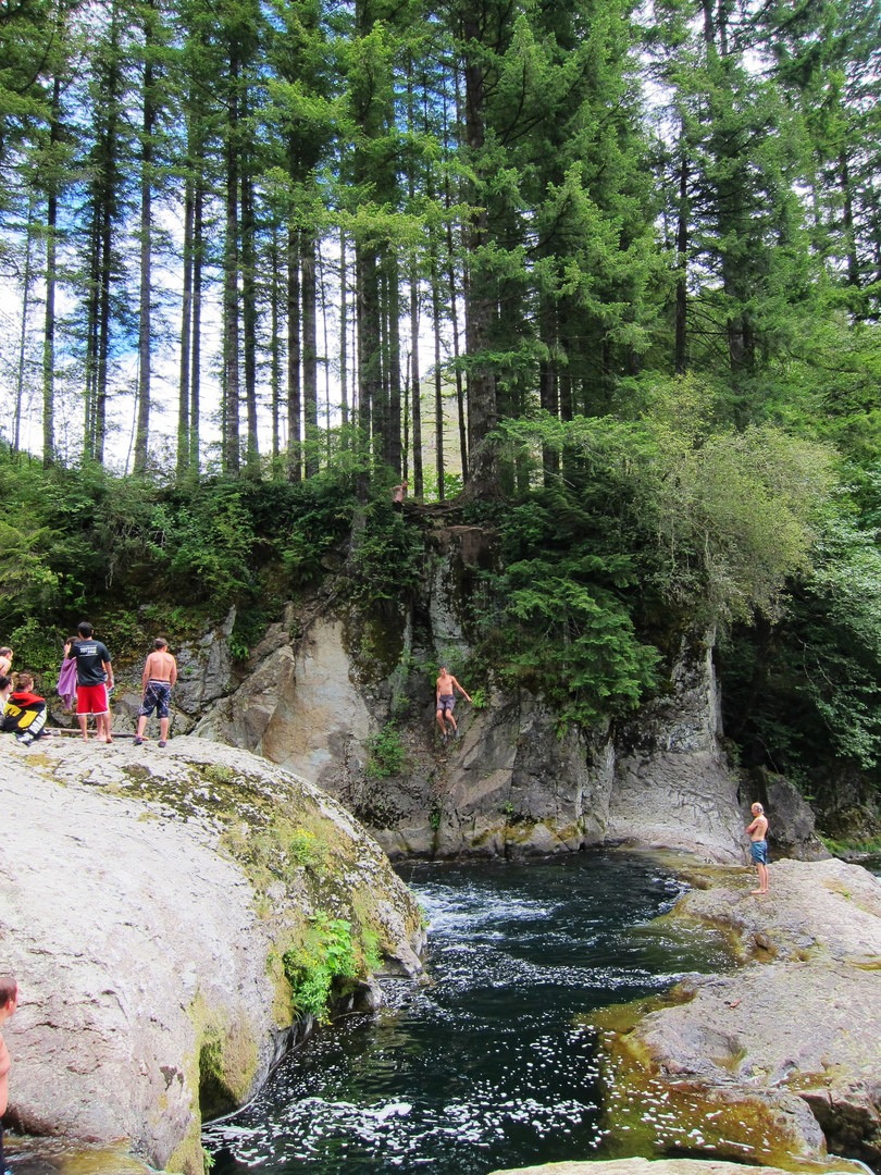 Naked Falls, Washougal River - swimming holes in
