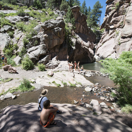 Paradise Cove Swimming Hole in Guffey Gorge
