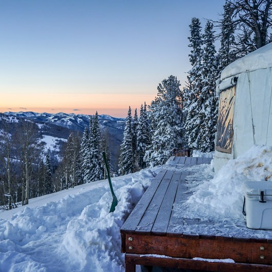 Backcountry Skiing the Baldy Knoll Yurt