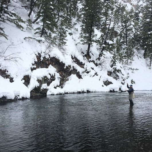 Winter Fly Fishing with Silver Creek Outfitters