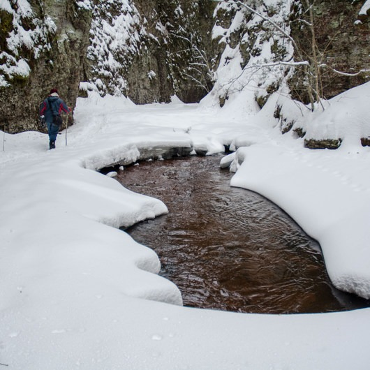 Kadunce River Canyon Snowshoe
