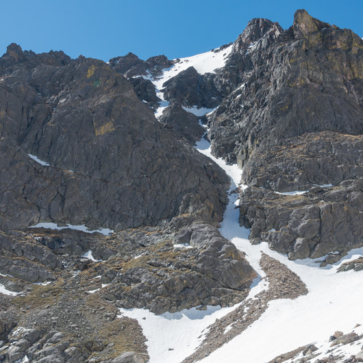 Flattop Mountain + Hallett Peak via Flattop Gully Couloir