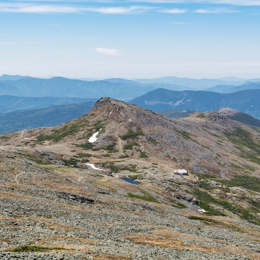 Lakes of the Clouds Hut + Mount Washington