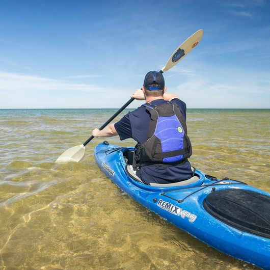 Lake Michigan Paddling: Ludington State Park Beach House to Big Sable Point Lighthouse