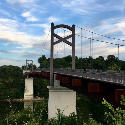 Cumberland River Pedestrian Bridge via Stones River Greenway
