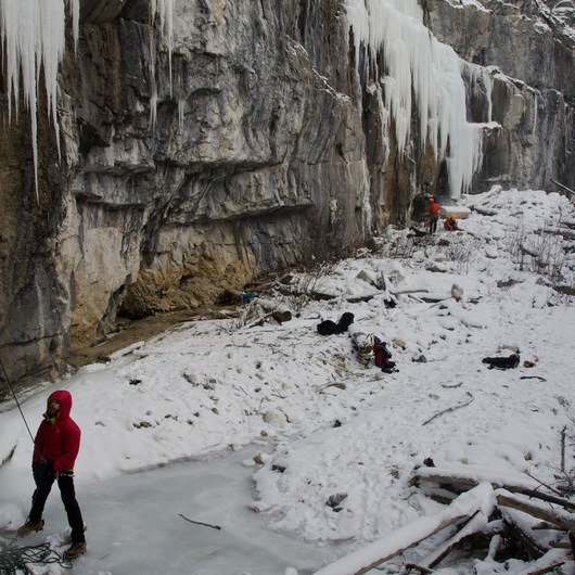 Haffner Creek Ice Cragging