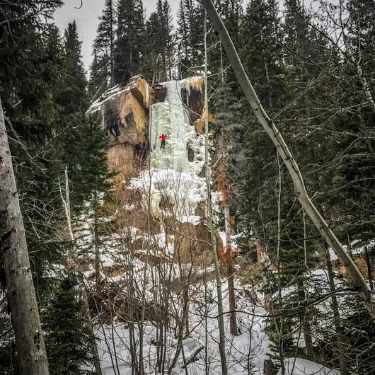 Hidden Falls Ice Climbing