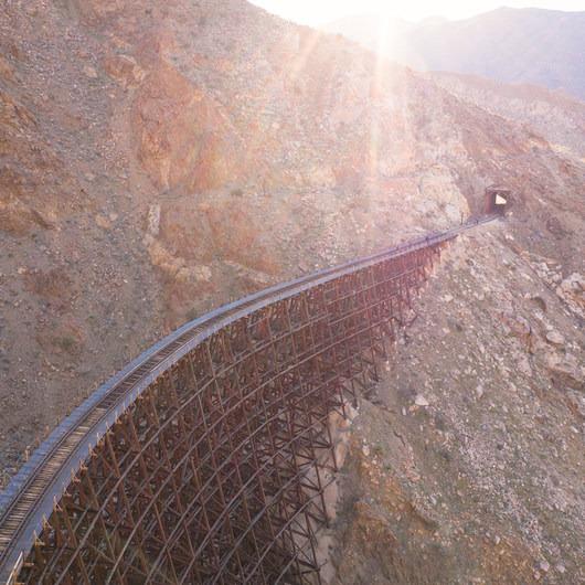 Goat Canyon Trestle via Mortero Palms