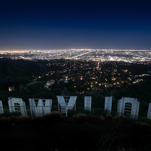 Hollywood Sign via Mount Lee Drive
