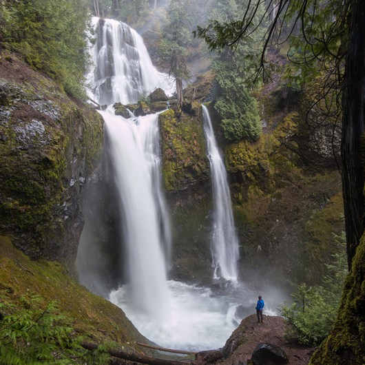 Waterfalls on the Washington Side of the Columbia River Gorge