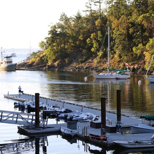 Buchart Gardens Cove Daphne Inlet