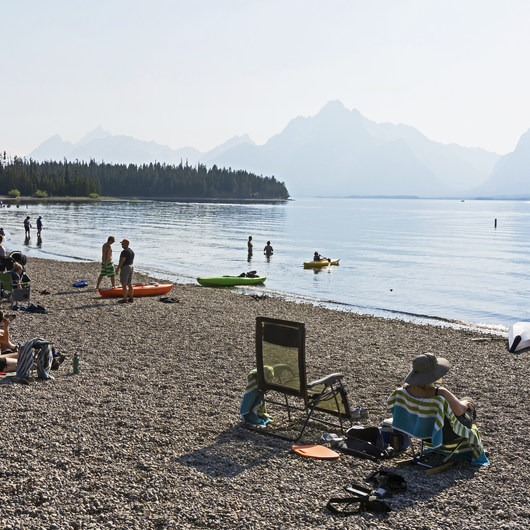 Jackson Lake Swim Beach
