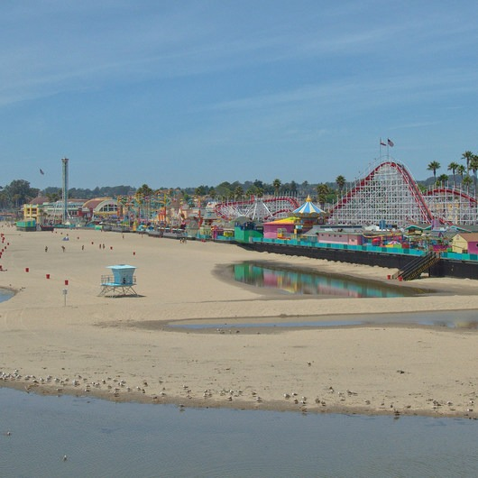 Santa Cruz Beach Boardwalk + Main Beach