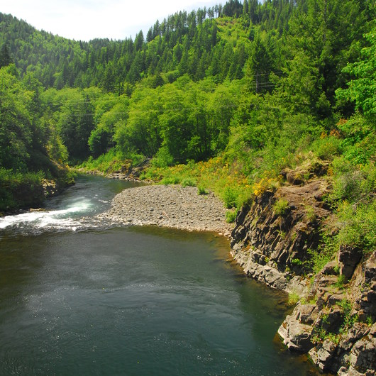Wilson River, Cedar Butte Road Bridge