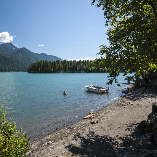 Baker Lake, Lower Sandy Beach + Campsites
