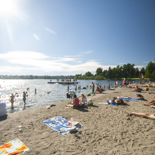 East + West Green Lake Beach + Swimming Area