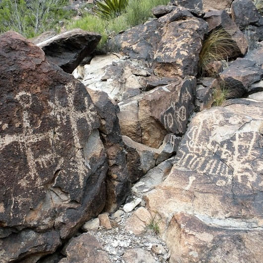 Trail 100 to Petroglyph Canyon