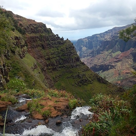 Waipo'o Falls via Canyon Trail from Pu'u Hinahina