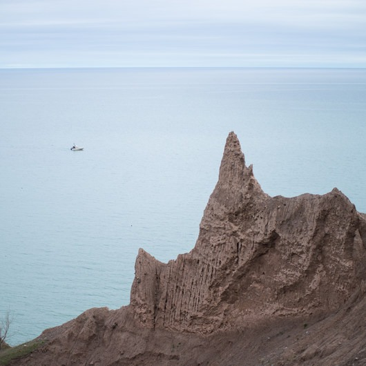 Chimney Bluffs Loop