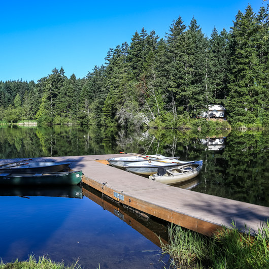 San Juan Island: Lake Dale Resort + Campground