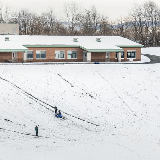 Marlboro Elementary School Sledding